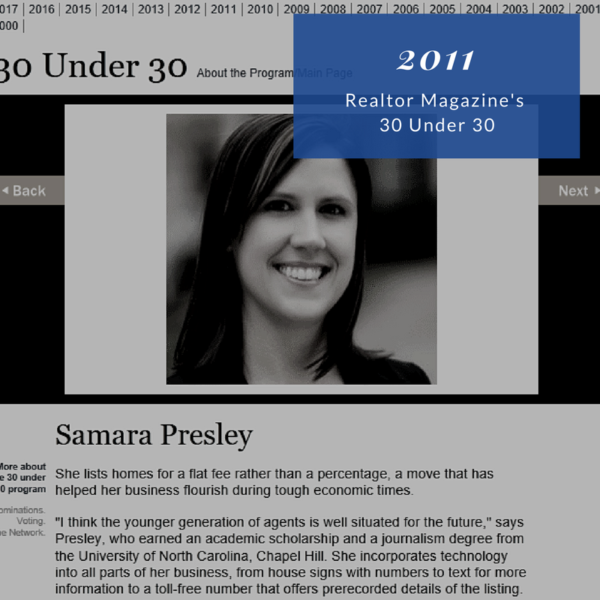 Realtor Magazine's 30 Under 30 Honoree