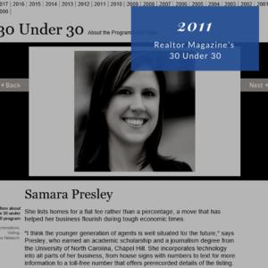 2011 Realtor Magazine's 30 Under 30 Samara Presley