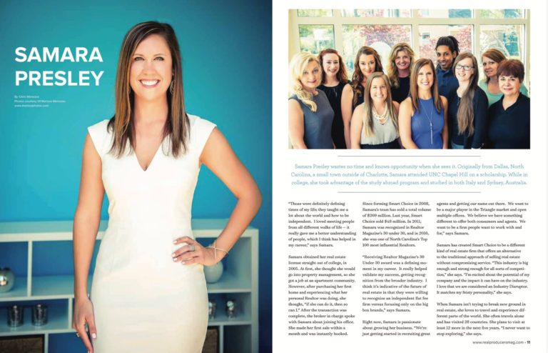 Samara Presley Top Producers Magazine Article