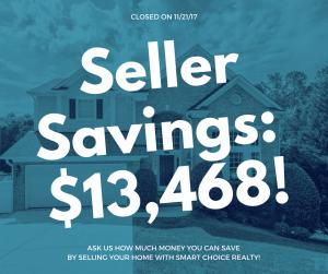 Discount Real Estate Broker Savings of $13,468 in color