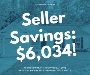 Discount Real Estate Broker Savings of $6,034 in color