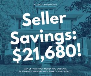 Discount Real Estate Broker Savings of $21,680 in color