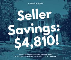 Discount Real Estate Broker Savings of $4,810 in color