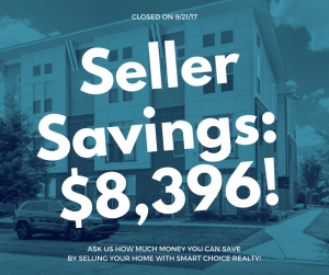 Discount Real Estate Broker Savings of $8,396 in color