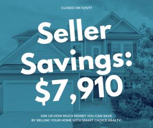 Discount Real Estate Broker Raleigh Home seller Savings of $7,910 color