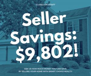Discount Real Estate Broker Savings of $9,802 in color