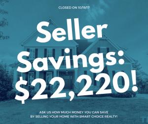 Discount Real Estate Broker Savings of $22,220 in color