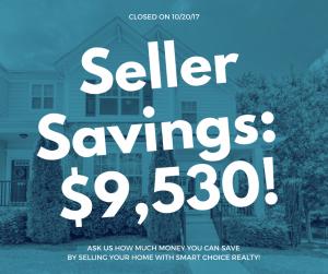 Discount Real Estate Broker Savings of $9,530 in color