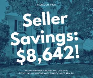 Discount Real Estate Broker Savings of $8,642 in color