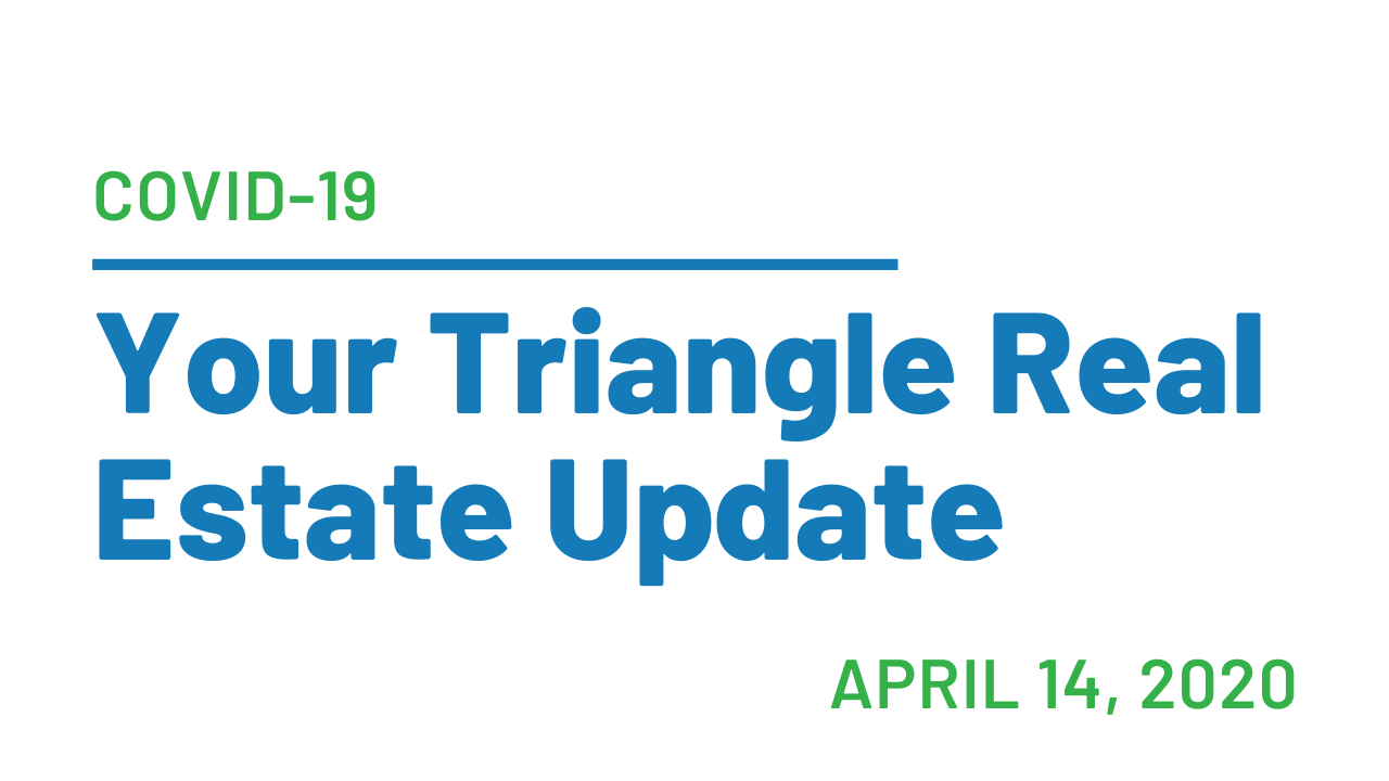 Your Triangle Real Estate Update Covid-19